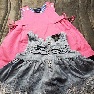 12 Mo Girl Dresses Calvin Klein & Ralph Lauren